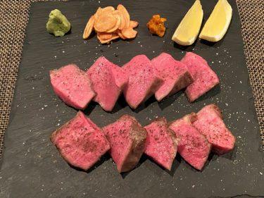 焼かないステーキ極厚タン<br>近江牛と有機野菜の呑処 ひだまり